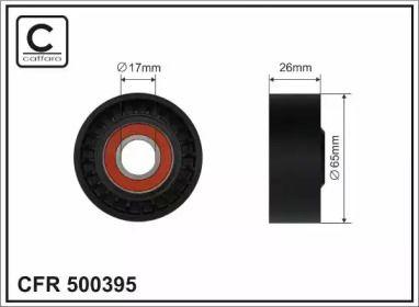 Натяжний ролик ременя генератора на Мерседес W212 CAFFARO 500395.