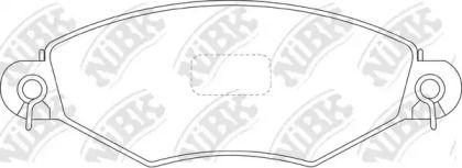 Передние тормозные колодки 'NIBK PN0178'.