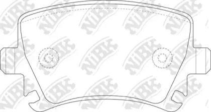 Задние тормозные колодки 'NIBK PN0349'.