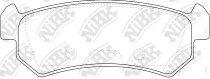 Задні гальмівні колодки 'NIBK PN0376'.