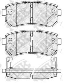 Задние тормозные колодки NIBK PN0436.