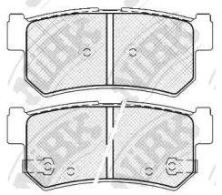 Задние тормозные колодки NIBK PN0440.