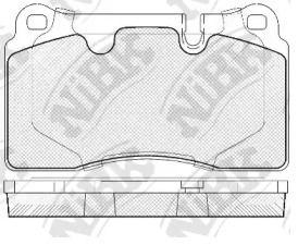 Передние тормозные колодки 'NIBK PN0486'.