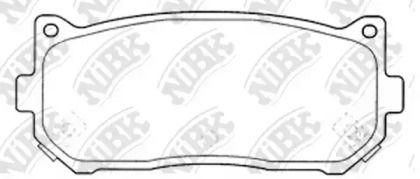 Задние тормозные колодки 'NIBK PN0528'.