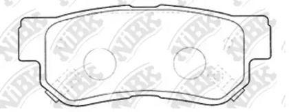Задні гальмівні колодки 'NIBK PN0539'.