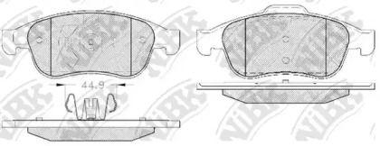Переднї гальмівні колодки NIBK PN0551.