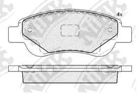 Передние тормозные колодки 'NIBK PN1841'.