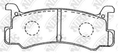 Задние тормозные колодки 'NIBK PN6353'.