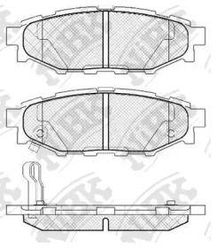 Задние тормозные колодки NIBK PN7501.