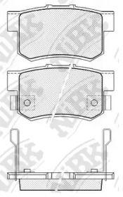 Задние тормозные колодки NIBK PN8397.
