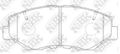 Переднї гальмівні колодки 'NIBK PN8485'.