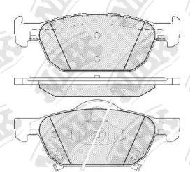 Передние тормозные колодки NIBK PN8863.