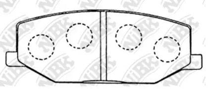 Передні гальмівні колодки 'NIBK PN9118'.