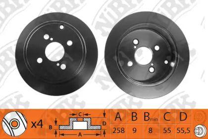 Задний тормозной диск 'NIBK RN1190'.