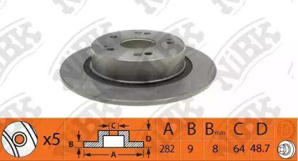 Задний тормозной диск 'NIBK RN1409'.