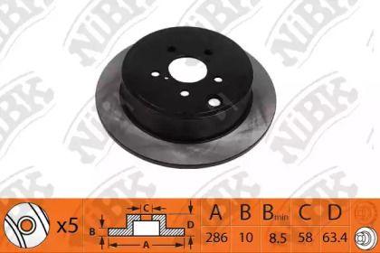 Задний тормозной диск 'NIBK RN1529'.