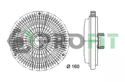 Вискомуфта на Мерседес W210 PROFIT 1720-3017.