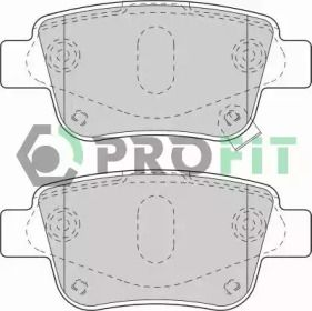 Задні гальмівні колодки 'PROFIT 5000-1649'.