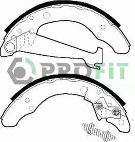 Барабанные тормозные колодки на Фольксваген Джетта PROFIT 5001-0408.