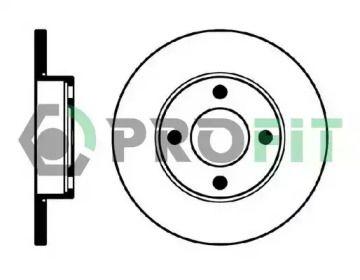 Передний тормозной диск на AUDI 90 'PROFIT 5010-0048'.