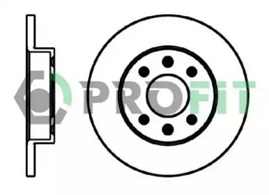 Передний тормозной диск PROFIT 5010-0055 рисунок 0