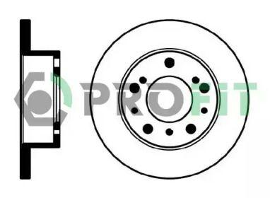 Передний тормозной диск на CITROEN C25 'PROFIT 5010-0063'.
