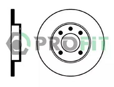Передний тормозной диск на AUDI 80 'PROFIT 5010-0103'.