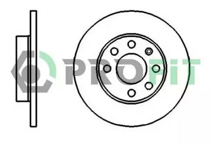 Передний тормозной диск на OPEL COMBO 'PROFIT 5010-0116'.