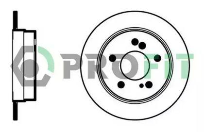 Задний тормозной диск 'PROFIT 5010-0122'.