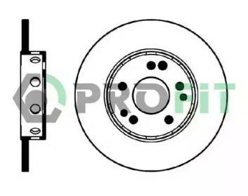 Передний тормозной диск на MERCEDES-BENZ S-CLASS 'PROFIT 5010-0124'.