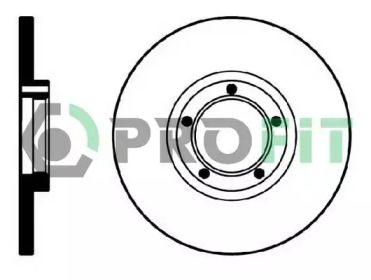 Передний тормозной диск на FORD TRANSIT 'PROFIT 5010-0138'.