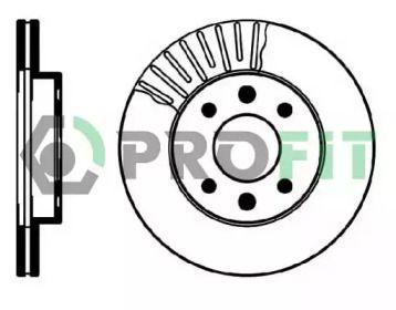 Вентилируемый передний тормозной диск 'PROFIT 5010-0158'.