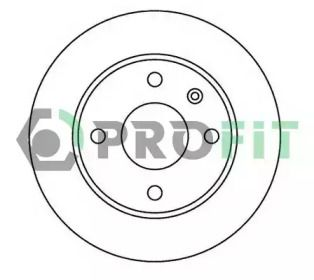 Вентилируемый передний тормозной диск на FORD ESCORT 'PROFIT 5010-0183'.