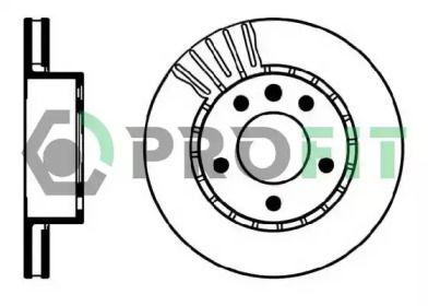 Вентилируемый передний тормозной диск на OPEL OMEGA 'PROFIT 5010-0188'.