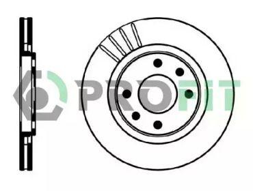 Вентилируемый передний тормозной диск на CITROEN XSARA 'PROFIT 5010-0192'.
