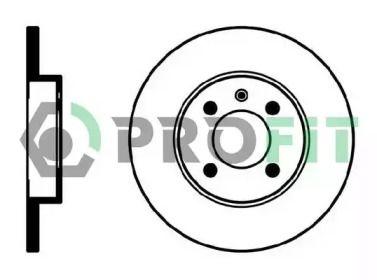 Передний тормозной диск на VOLKSWAGEN CADDY 'PROFIT 5010-0205'.