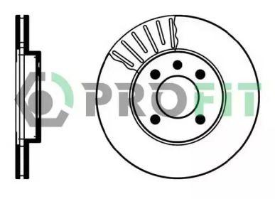 Вентилируемый передний тормозной диск 'PROFIT 5010-0207'.