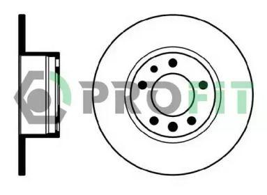 Передний тормозной диск на BMW 5 'PROFIT 5010-0210'.