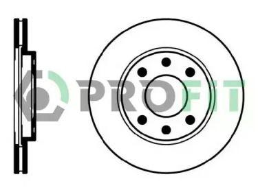 Вентилируемый передний тормозной диск на PEUGEOT 206 'PROFIT 5010-0214'.