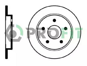 Задний тормозной диск на LANCIA DELTA 'PROFIT 5010-0232'.