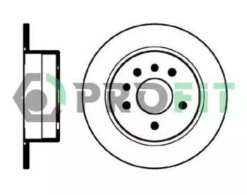 Задний тормозной диск на OPEL OMEGA 'PROFIT 5010-0239'.