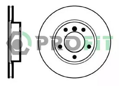 Вентилируемый передний тормозной диск на BMW Z3 'PROFIT 5010-0258'.