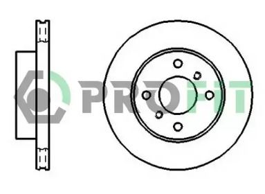 Вентилируемый передний тормозной диск на Ниссан Альмера 'PROFIT 5010-0260'.