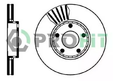 Вентилируемый передний тормозной диск на SEAT EXEO 'PROFIT 5010-0320'.