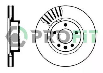 Вентилируемый передний тормозной диск на OPEL SENATOR 'PROFIT 5010-0330'.