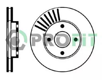 Вентилируемый передний тормозной диск на Форд Мондео 'PROFIT 5010-0364'.