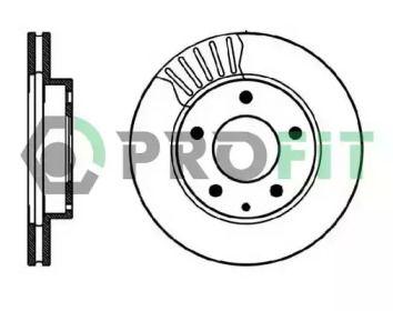 Вентилируемый передний тормозной диск на Мазда Кседос 6 'PROFIT 5010-0496'.