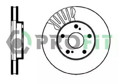 Вентилируемый передний тормозной диск на TOYOTA CAMRY 'PROFIT 5010-0501'.