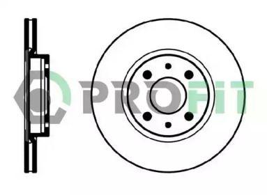 Вентилируемый передний тормозной диск на FIAT TEMPRA 'PROFIT 5010-0521'.
