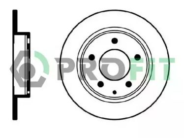 Задний тормозной диск на Мазда Кседос 6 'PROFIT 5010-0524'.